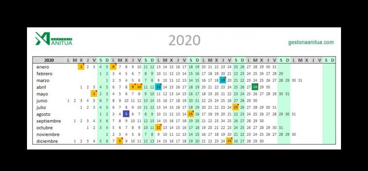 Calendario Laboral 2020 Vitoria-Gasteiz